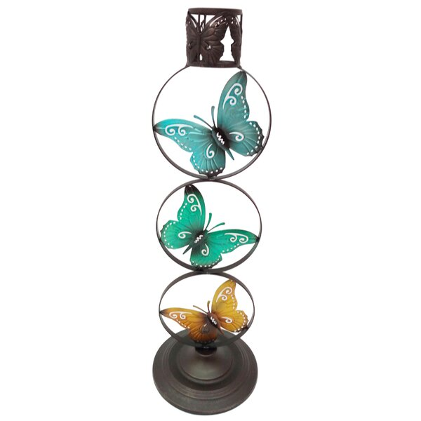 Darius Metal Butterfly Ring Gazing Globe Stand by August Grove