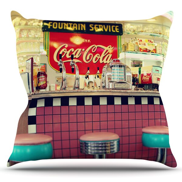 Retro Diner by Sylvia Cook Outdoor Throw Pillow by East Urban Home
