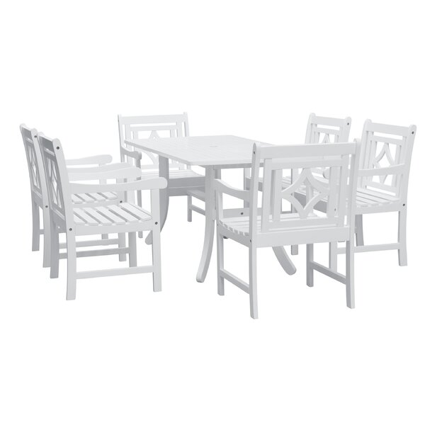Andromeda 7 Piece Patio Dining Set by Beachcrest Home