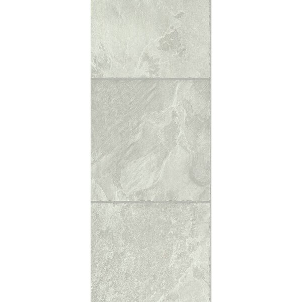Stones and Ceramics 11.81 x 47.48 x 8.3mm Tile Laminate Flooring in Slate Ivory Sand by Armstrong Flooring