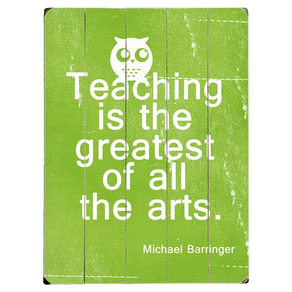 Teaching Graphic Art Print Multi-Piece Image on Wood by Artehouse LLC