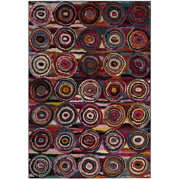 Miley Red/Blue/Pink Area Rug by Latitude Run