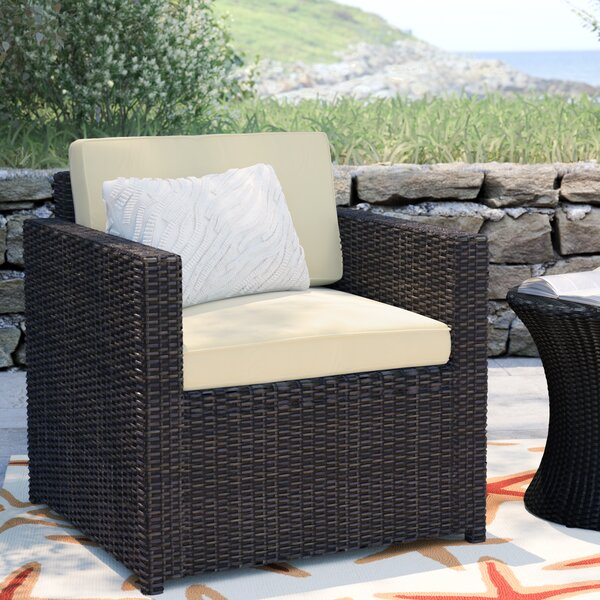 Belton Outdoor Wicker Deep Seating Chair with Cushion by Mercury Row