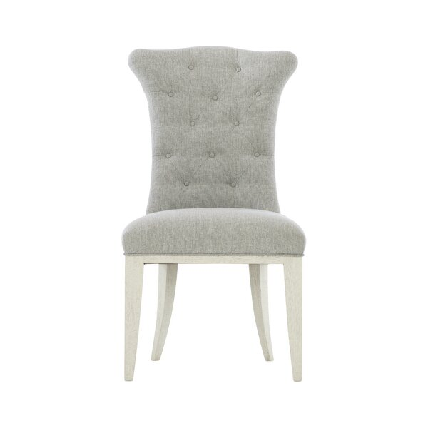 Allure Tufted Olefin Upholstered Parsons Chair in Manor White by Bernhardt Bernhardt