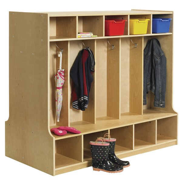 3 Tier 5 Wide Coat Locker by Offex