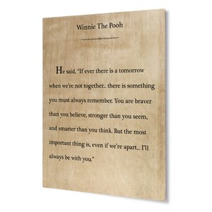 I'll Always Be with You Textual Art on Plaque by KAVKA DESIGNS