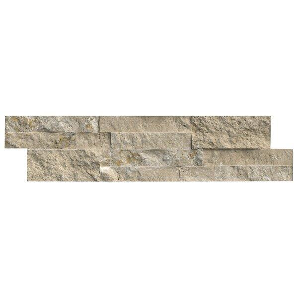 6 x 24 Travertine Splitface Tile in Textured Durango Cream by MSI