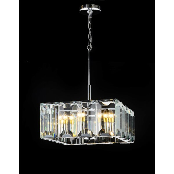 Schaeffer 6-Light Unique / Statement Rectangle / Square Chandelier By Brayden Studio