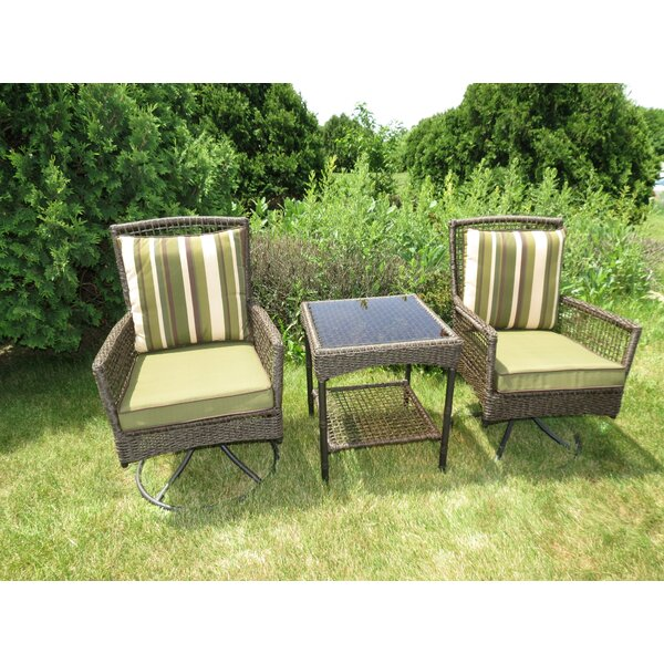 Kurudere 3 Piece Conversation Set with Cushions by Bay Isle Home