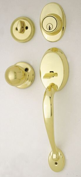 Cheltenham Single Cylinder Handleset with Interior Knob by Ultra Hardware