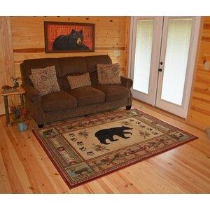 Hearthside Woodlands Bear Area Rug