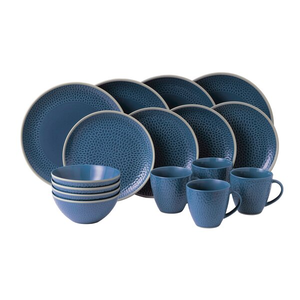 Maze Grill Hammer 16 Piece Dinnerware Set, Service for 4 by Royal Doulton