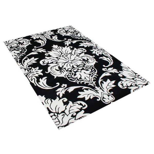 Vivian Hand-Woven Off-White/Black Area Rug by Threadbind