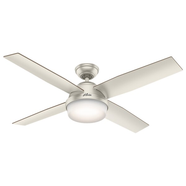 52 Dempsey 4 Blade Outdoor LED Ceiling Fan with Remote by Hunter Fan