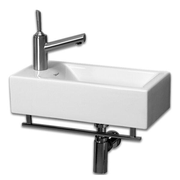 Isabella Ceramic 20 Wall Mount Bathroom Sink by Whitehaus Collection
