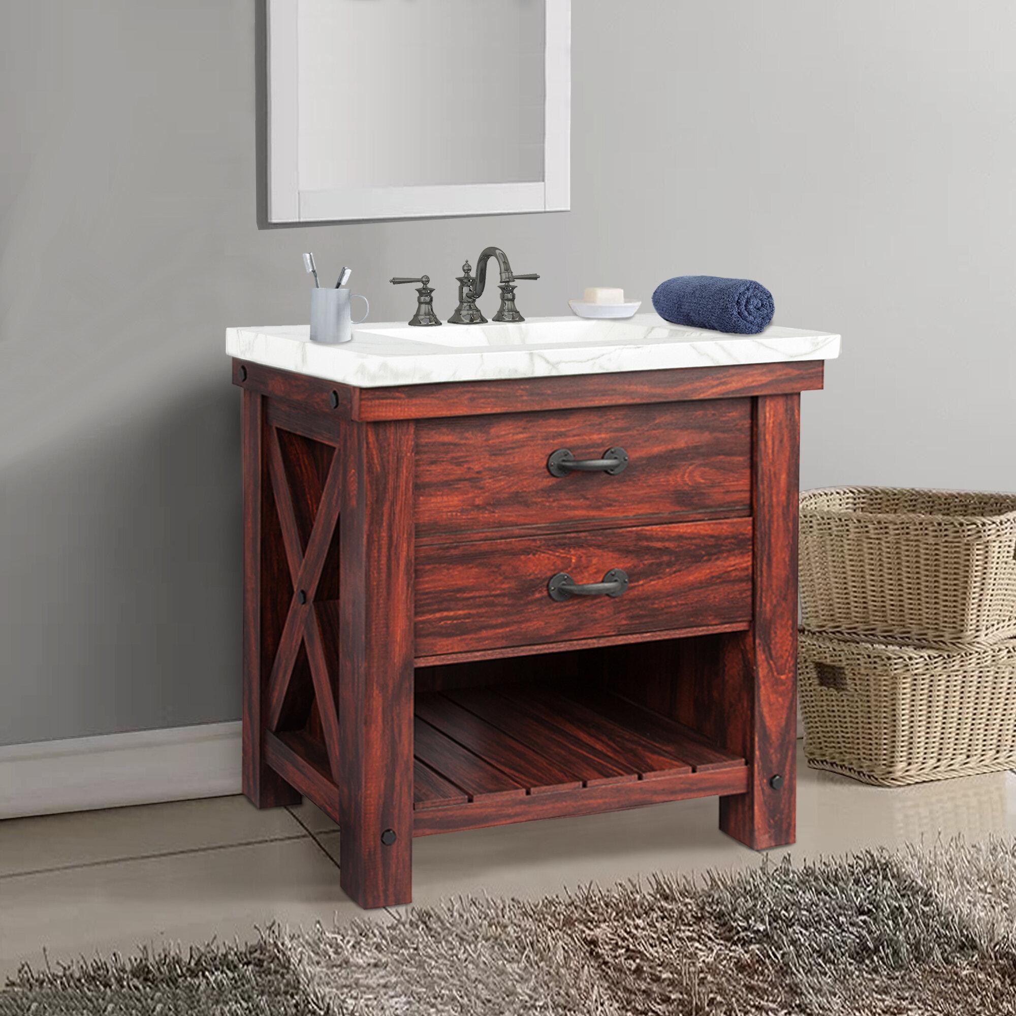 """Marielle 12"""" Single Bathroom Vanity Set"""
