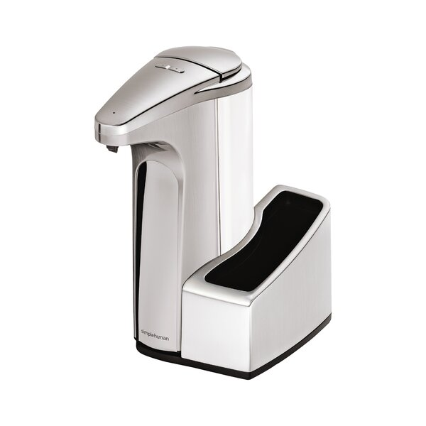 13 oz. Sensor Soap Pump with Caddy, Brushed Nickel by simplehuman