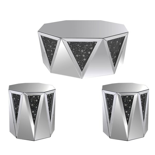 Bussey 3 Piece Coffee Table Set by Everly Quinn Everly Quinn