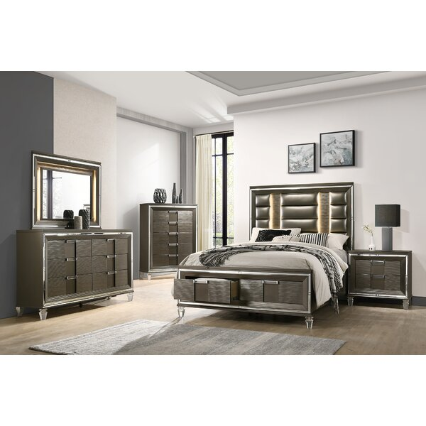 Gilmore Storage Platform 5 Piece Bedroom Set by Mercer41
