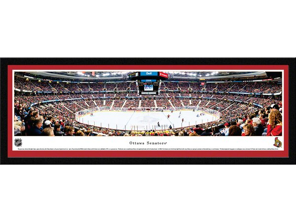 NHL Ottawa Senators by Christopher Gjevre Framed Photographic Print by Blakeway Worldwide Panoramas, Inc