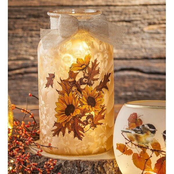 Sunflower Glass Jar Night Light by Plow & Hearth