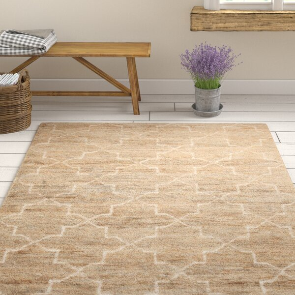 Levine Hand-Knotted Natural Area Rug by Gracie Oaks