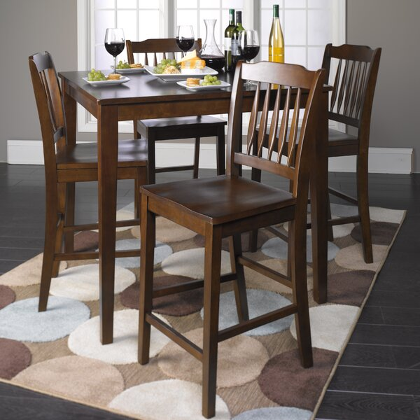 Lamberton 5 Piece Counter Height Dining Set by Red Barrel Studio