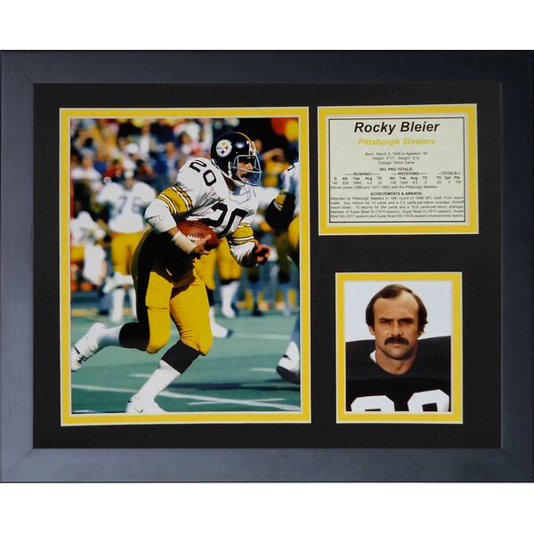 Rocky Bleier Framed Memorabilia by Legends Never Die