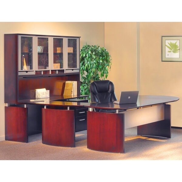 Napoli 8-Piece U-Shape Desk Office Suite by Mayline Group