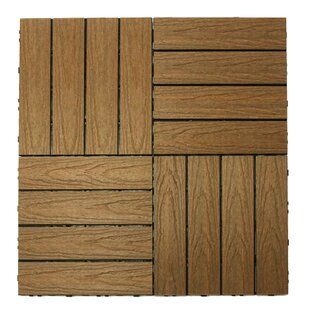 Naturale Composite 12 X Interlocking Deck Tiles In Peruvian Teak