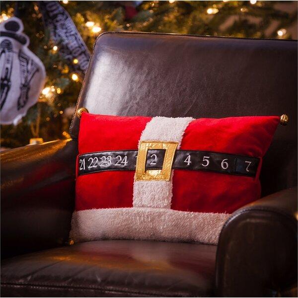 Santa Countdown Belt Lumbar Pillow by The Holiday Aisle