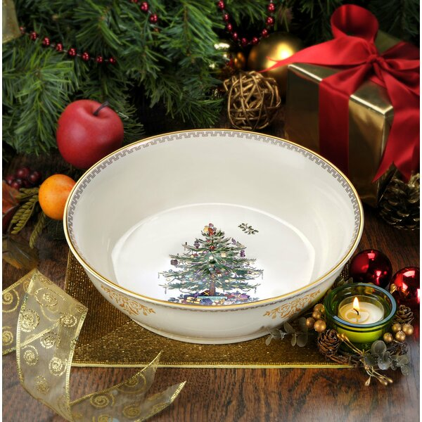 Christmas Tree Gold Serving Bowl by Spode