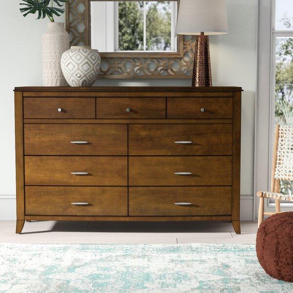 Travis 9 Drawer Double Dresser by Mistana