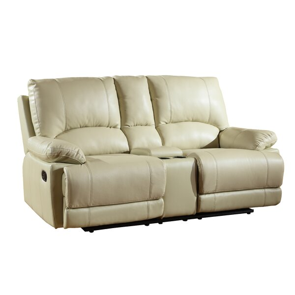 Ullery Upholstered Living Room Recliner Console Reclining Loveseat by Winston Porter Winston Porter