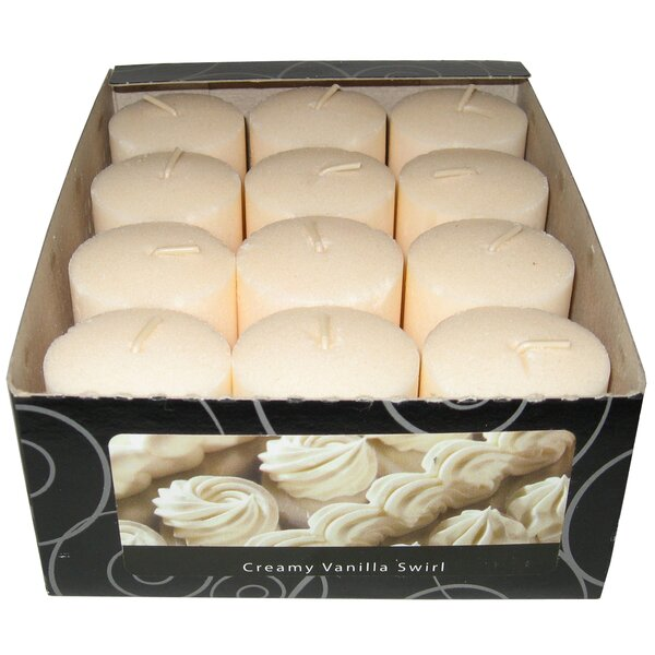Candle-Lite Vanilla Wafer Votive Candle (Set of 12) by Fortune Products