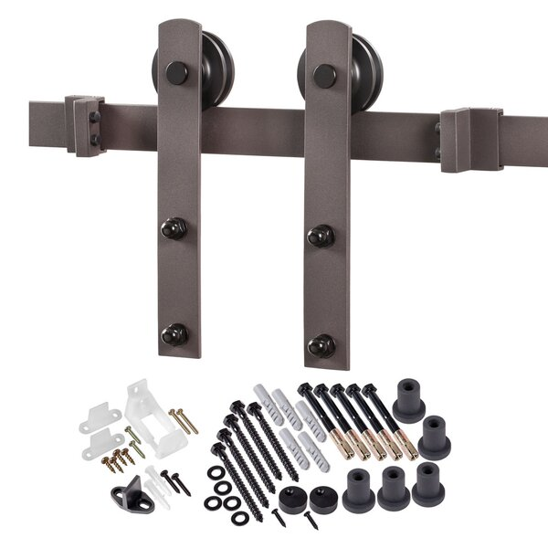 Straight Strap Sliding Barn Door Hardware by Erias Home Designs
