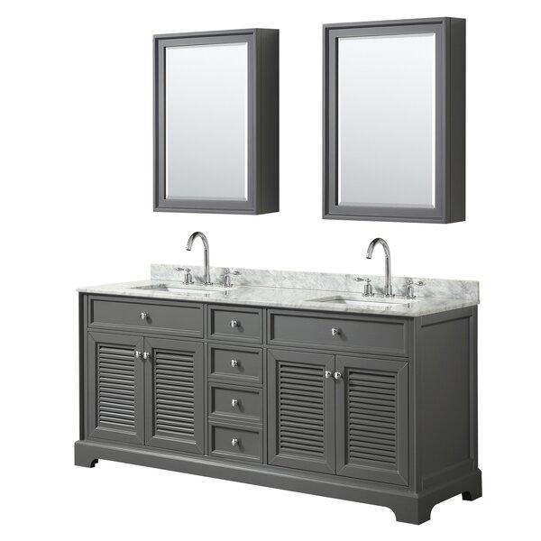 Tamara 73 Double Bathroom Vanity Set with Mirror