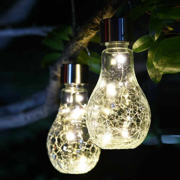 Crackle Jar Solar 2 Piece LED Landscape Lighting Set by Lightshare
