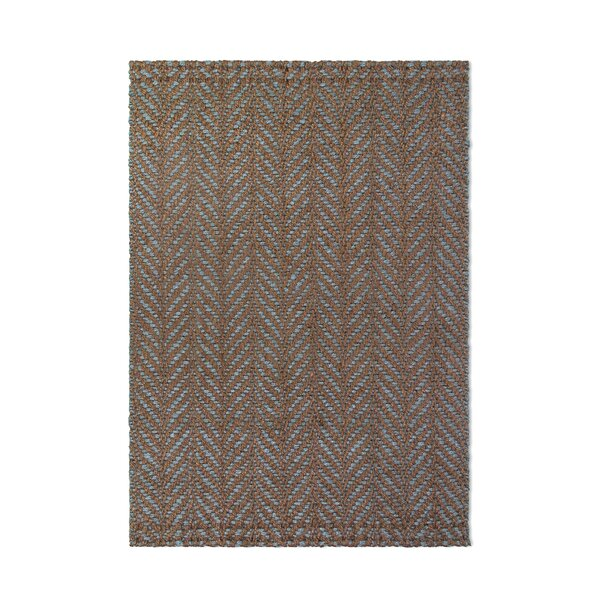 Delmer Hand-Woven Brown/Blue Area Rug by Highland Dunes