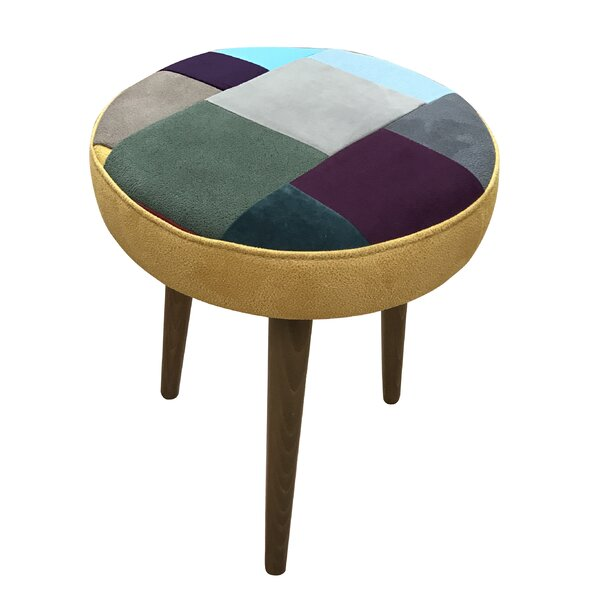 Basso Patchwork Vanity Stool by Wrought Studio