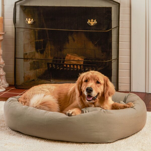 Max Rectangle Indoor/Outdoor Bumper Dog Bolster by Happy Hounds