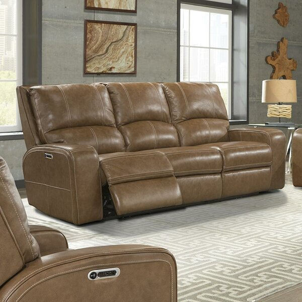 Suez Leather Reclining Sofa By Latitude Run