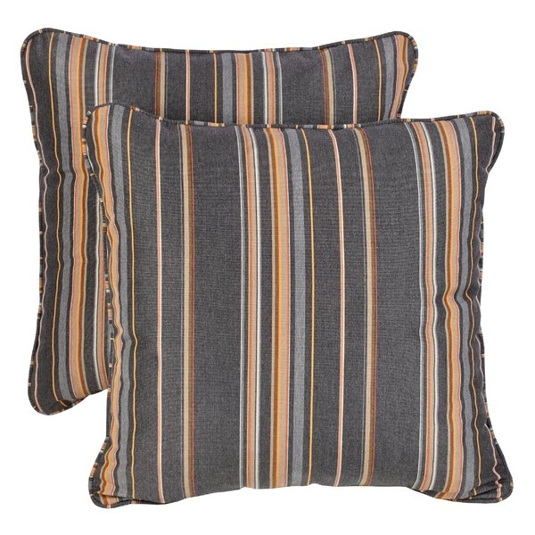 Midford Outdoor Sunbrella Throw Pillow (Set of 2) by Mercury Row
