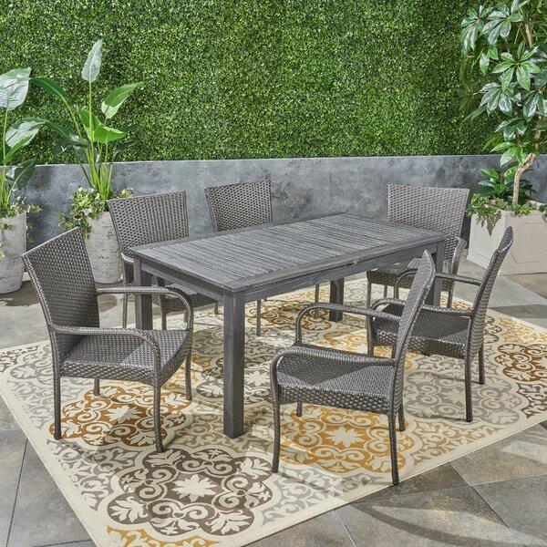 Obrien Outdoor Expandable 7 Piece Dining Set by Brayden Studio