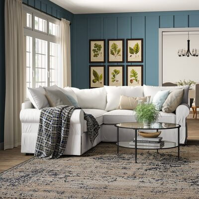 Birch Lane Heritage Upholstered Symmetrical Sectional Fabric Sectionals