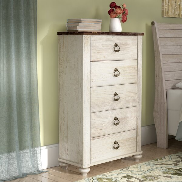 Naples 5 Drawer Chest by Three Posts