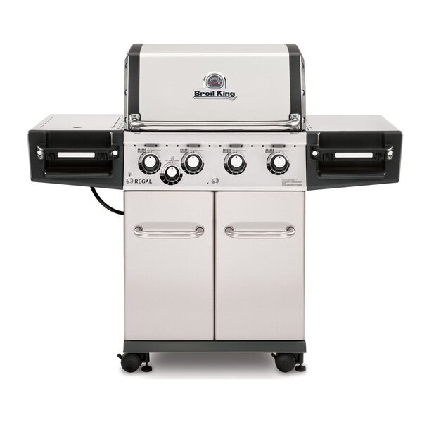 Regal S440 4-Burner Gas Grill with Side Burner by Broil King