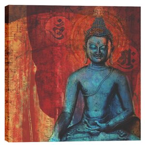 Blue Buddha by Elena Ray Graphic Art on Canvas by Epic Graffiti