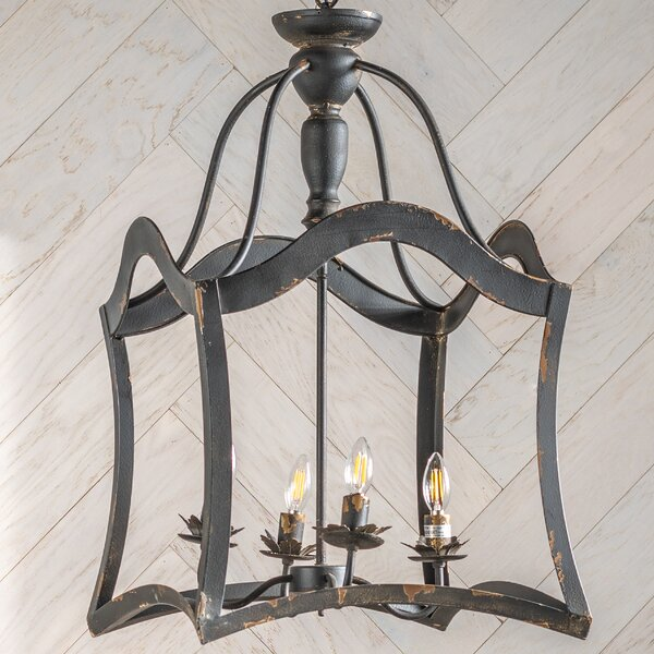 Palafox 4 - Light Lantern Square Chandelier By Canora Grey