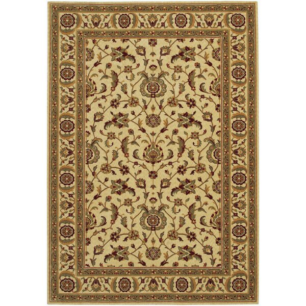 Decatur Linen/Beige Area Rug by Alcott Hill